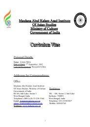 Research Fellow - Maulana Abul Kalam Azad Institute of Asian Studies