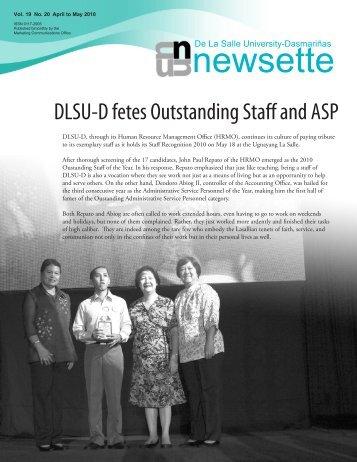 newsette - De La Salle University