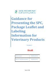 Guidance for Presenting the SPC, Package Leaflet and Labeling ...