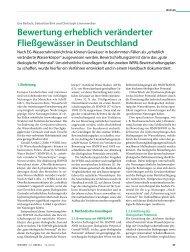 Bewertung erheblich veränderter Fließgewässer in Deutschland