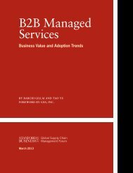 B2B Managed Services - Stanford Graduate School of Business ...