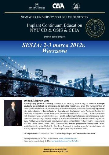 SESJA: 23 marca 2012r. Warszawa