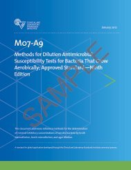 M07-A9: Methods for Dilution Antimicrobial Susceptibility ... - NetSuite