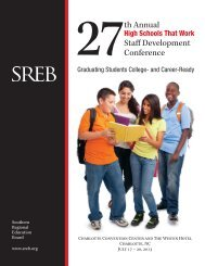 27th Annual Staff Development Conference - Southern Regional ...