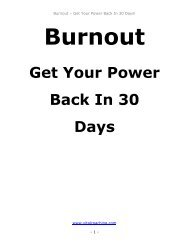 Get Your Power Back In 30 Days - vitalcoaching.com