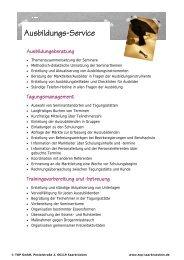 Ausbildungs-Service - TOP Trainings-, Organisations