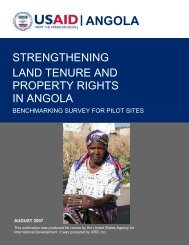 ANGOLA - Land Tenure and Property Rights Portal