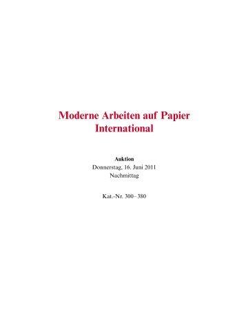 Moderne Arbeiten auf Papier International - Galerie Fischer ...