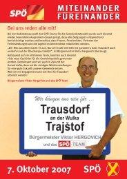 Wahlfolder 2007 - bei der SPÖ Trausdorf