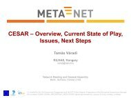 CESAR – Overview, Current State of Play, Issues, Next ... - Meta-Net