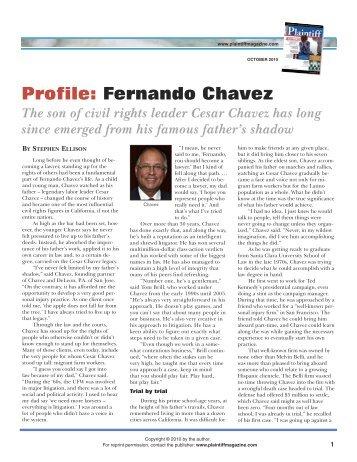 Profile: Fernando Chavez - Plaintiff