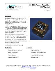 60 GHz Power Amplifier HHPAV-433 - Hxi.com