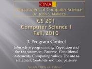 3. Program Control
