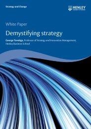 Demystifying strategy - Henley Business School
