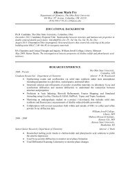Curriculum Vitae - Research at OSU Chemistry - The Ohio State ...