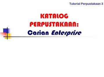 Carian Enterprise. - UTHM Library