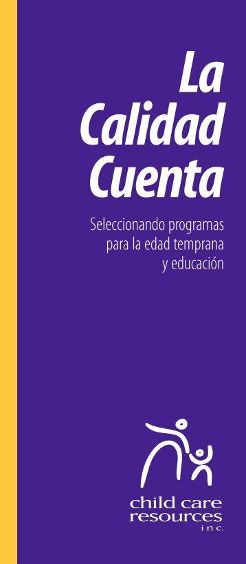 Seleccionando programas para la edad temprana y educación