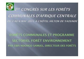 Présentation du MINFOF - Centre Technique de la Forêt Communale