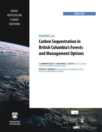 Carbon Sequestration in British Columbia's Forests and ...