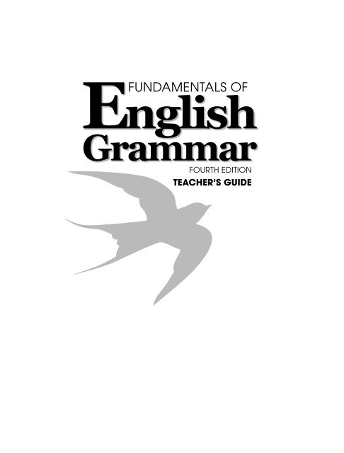 Fundamentals Of English Grammar 4th Edition Azargrammar Com