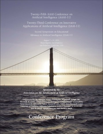 Conference Program - Association for the Advancement of Artificial ...