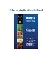 15. Kunst und Antiquitäten Auktion auf Gut Bernstorf