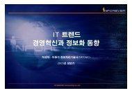 IT 트렌드 경영혁신과 정보화 동향