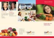 Ernährungs- und Diätberatung Gesundheit - Top-Life