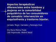 Aspectos terapéuticos diferenciales entre hombres y mujeres en la ...