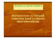 Les Formations forestières en Tunisie