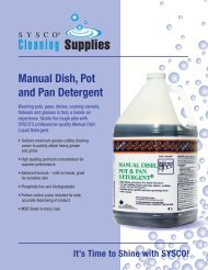 SYSCO Manual Dish, Pot and Pan Detergent
