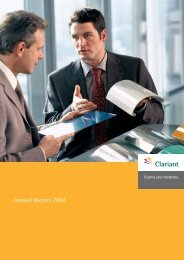 Annual Report 2004 of Clariant Ltd