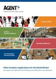 Video Analytics Applications for the Retail Market - Agent Vi