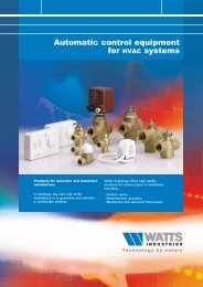 Automatic control equipment for HVAC systems - Watts Industries