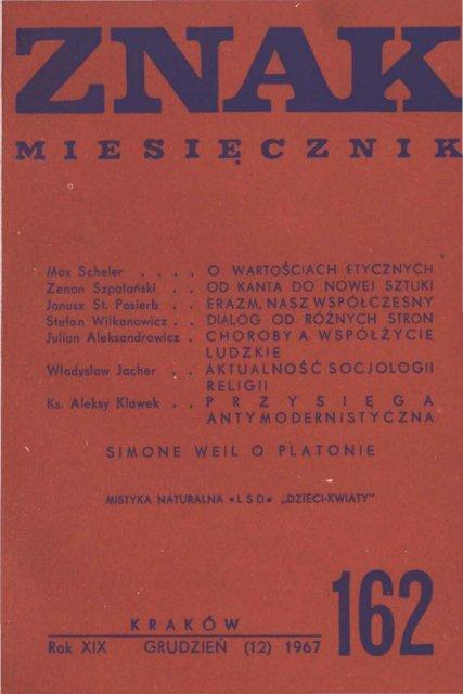 Nr 162 Grudzieå 1967 Znak