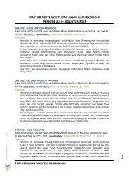 Program Studi Ilmu Ekonomi - DIGITAL LIBRARY - FAKULTAS ...