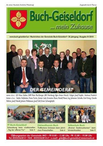 DER GEMEINDERAT - Gemeinde Buch-Geiseldorf