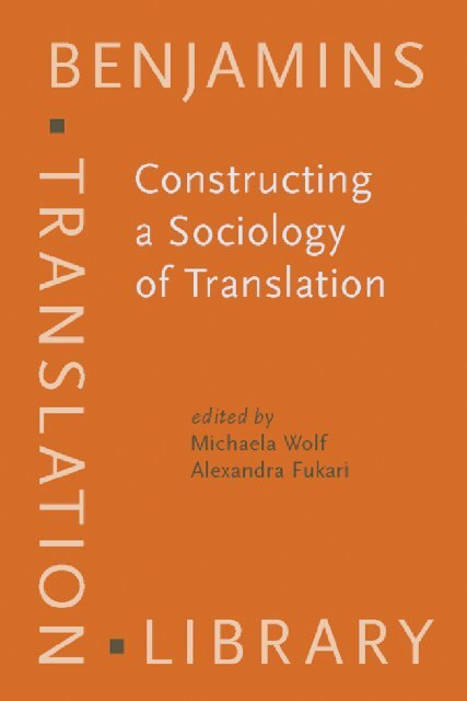 Constructing a Sociology of Translation pdf