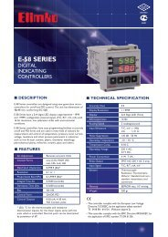 E-58 Series Digital Indicating Controllers - Elimko