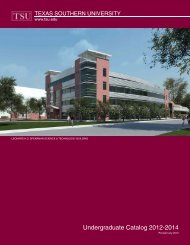 2012-2014 Undergraduate Catalog - Texas Southern University ...