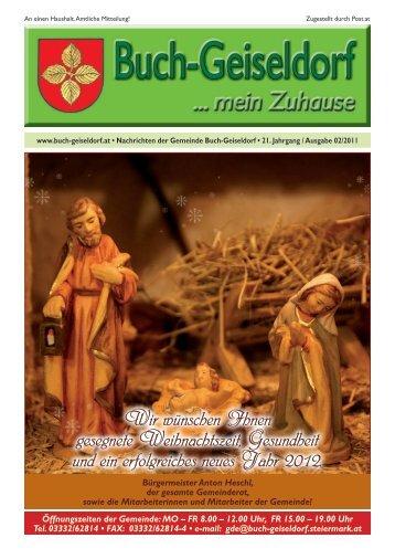 Liebe Jugend! Zusammenlegung der Gemeinden - Gemeinde Buch ...