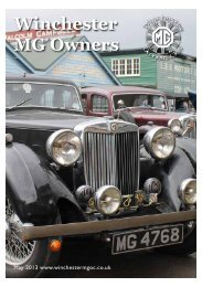 May 2013 - Winchester MG Owners Club