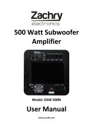 500 Watt Subwoofer Amplifier User Manual - Ljudia