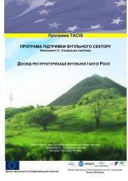 Досвід реструктуризації вугільної галузі Росії [pdf, 744 kb]
