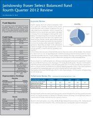 Balanced Fund - Jarislowsky, Fraser Limited