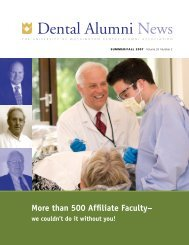 than 500 Affiliate Faculty - University of Washington School of Dentistry