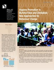 Hygiene Promotion in Burkina Faso and Zimbabwe: New ... - WSP