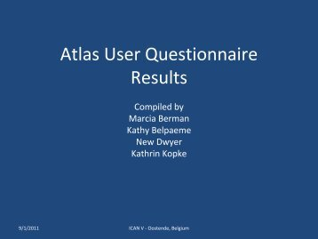 Results of user questionnaire