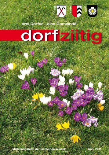 Dorfziitig April 2011 - Gemeinde Winkel