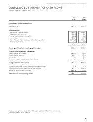 CONSOLIDATED STATEMENT OF CASH FLOWS - SingTel